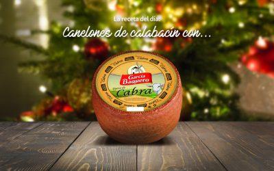 #LoBuenoUne, también en Navidad: receta canelones de calabacín y queso de cabra García Baquero