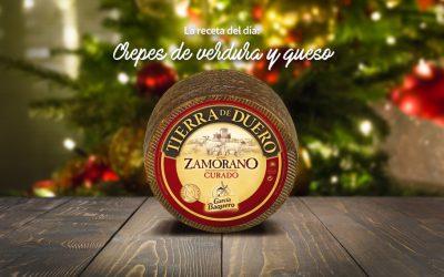 #LoBuenoUne, también en Navidad: receta de crepes rellenas de puerro, calabacín y Queso D.O.P Tierra del Duero Zamorano García Baquero