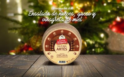 #LoBuenoUne, también en Navidad: receta ensalada de nueces y queso La Cava Artés con vinagreta de miel