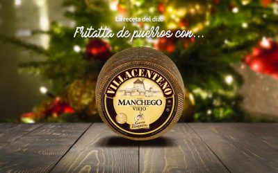 #LoBuenoUne, también en Navidad: Frittata de puerros y queso VILLACENTENO Garcia Baquero