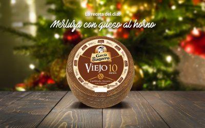#LoBuenoUne, también en Navidad: receta merluza al horno con salsa de queso Viejo 10 meses