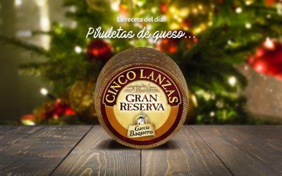 #LoBuenoUne, también en Navidad: receta piruletas de queso Cinco Lanzas