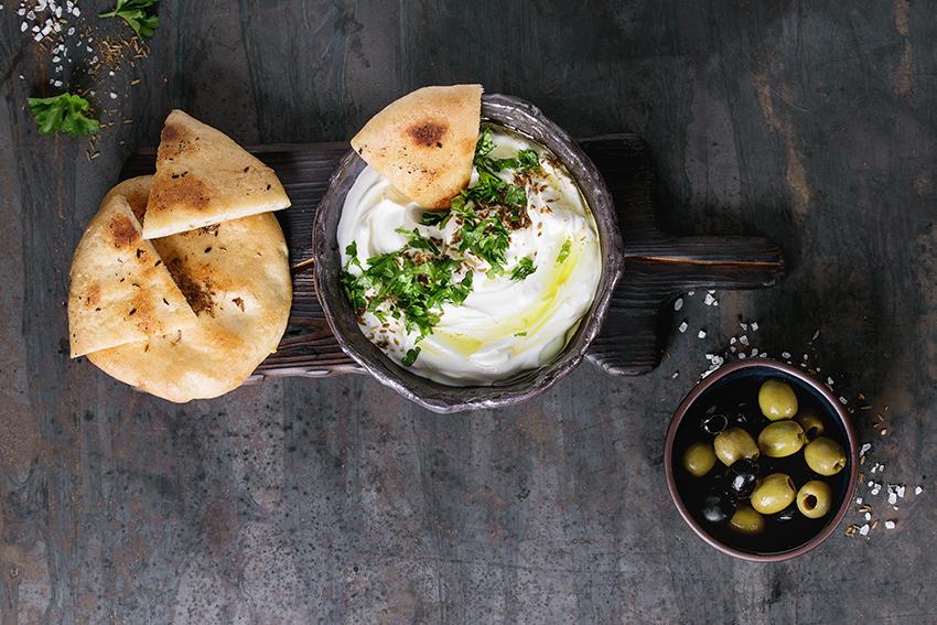 pitas mediterráneas con crema de queso García Baquero. Prepara esta receta para  Nochebuena con #LoBuenoUne también en Navidad