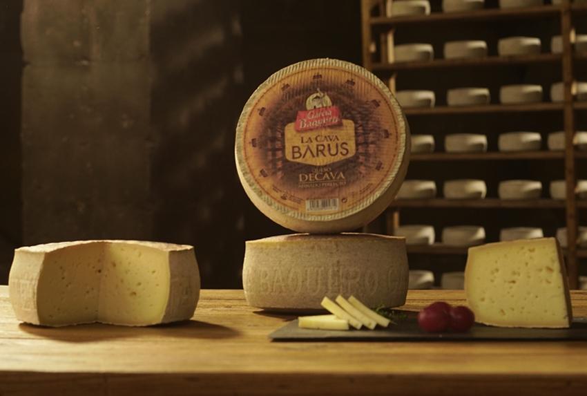 La Cava Barus, uno de los quesos de Cava de García Baquero con un marcado sabor, notas picantes y corteza enmohecida