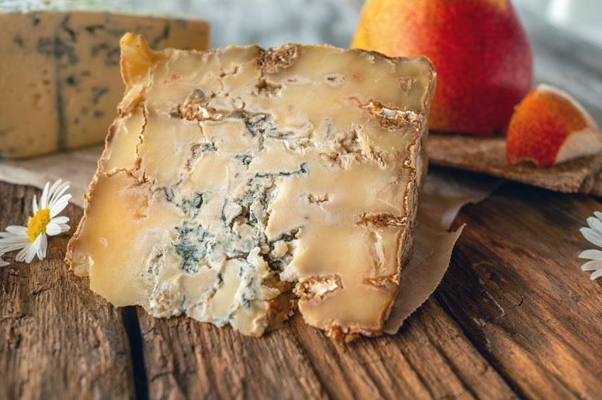 Quesos internacionales: el queso Stilton de Reino Unido. The King of cheese con leche de vaca fermentada y sabor picante
