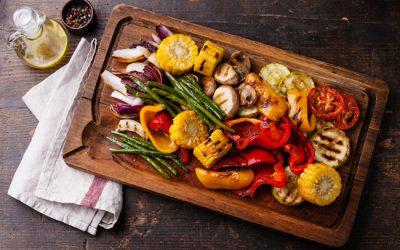Verduras asadas con queso