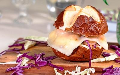 Sandwich de Gambas con Queso Semicurado