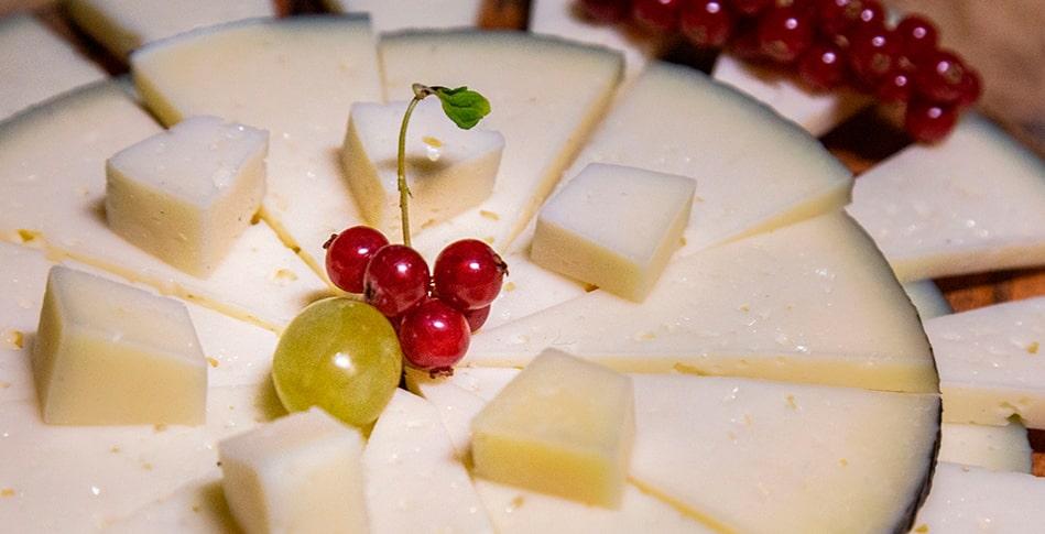 plato de queso semicurado